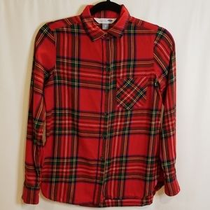Old Navy Women's Red Plaid Flannel Shirt